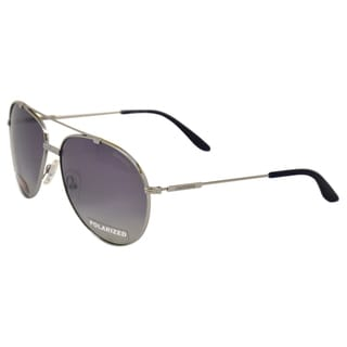 Carrera Unisex '67/S 06LB' Ruthenium Metal Aviator Sunglasses