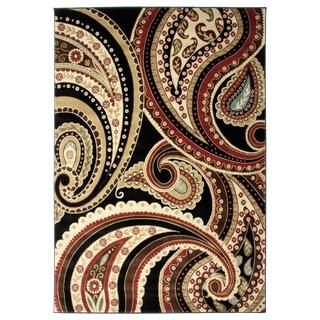 Contemporay Paisley Multicolor Area Rug (5'3 x 7'7)