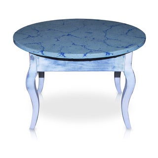 French Distressed Oval End Table