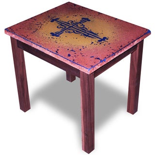 Recherche Furnishings Old World Cross End Table