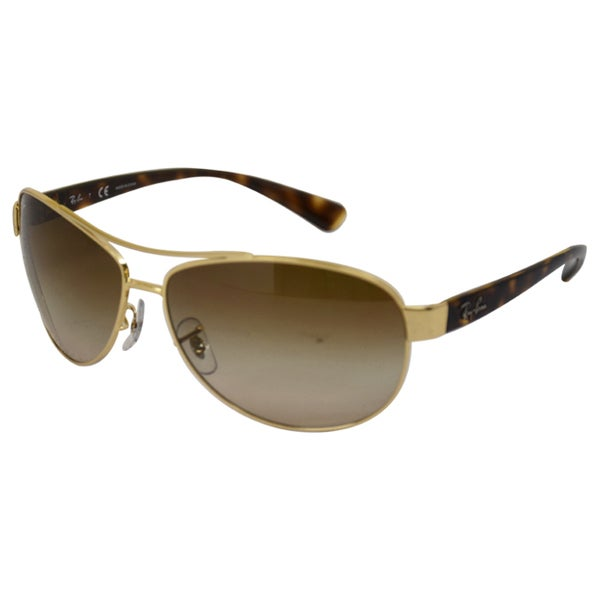 Ray - Ban Men's 'RBB 3386 001/13' Havana Gold/ Brown Aviator Sunglasses