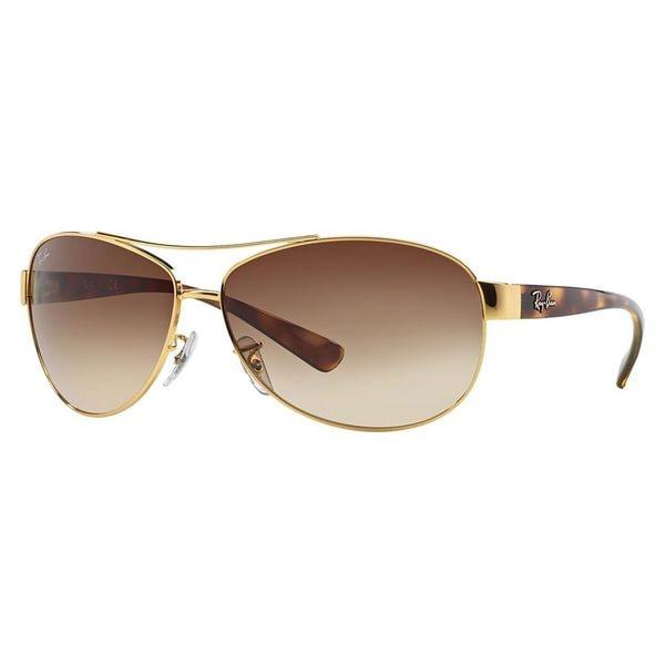 Ray-Ban Men's 'RBB 3386 001/13' Havana Gold/ Brown Aviator Sunglasses