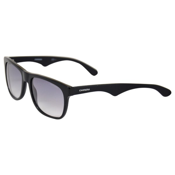 Carrera Unisex '6003 64H' Black/ Matte Black Retro Sunglasses