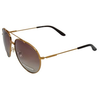 Carrera Unisex 'OUN/CC' Antique Gold Metal Aviator Sunglasses