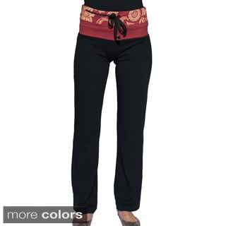 Handcrafted Women's Organic Cotton Yoga Pants and Pocket (Nepal)