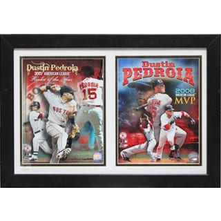 Boston Red Sox Dustin Pedroia 12 x 18 Double Custom Frame