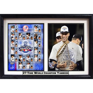 New York Yankees Derek Jeter 2009 Championship Double Frame