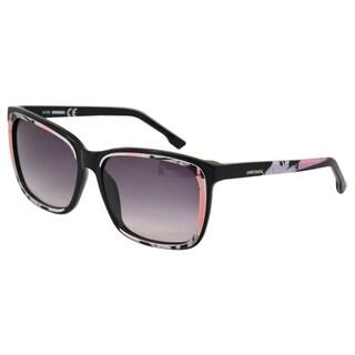 Diesel Women's 'DL0008' Black/ White Sunglasses