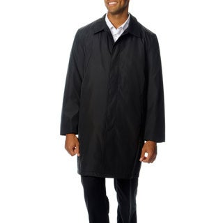 Perry Ellis Portfolio Men's Button-front Poly-bonded Raincoat