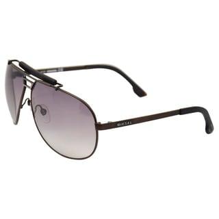 Diesel 'DL0027/S Metal 49B' Matte Brown Aviator Sunglasses