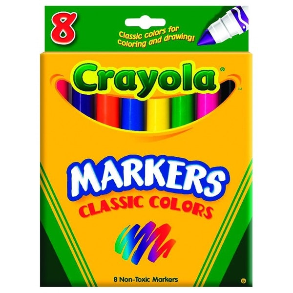 Crayola Fabric Markers Ten Assorted Bright Colors 10/Set