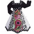 AnnLoren Girls Floral/ Zebra Panel Party Dress