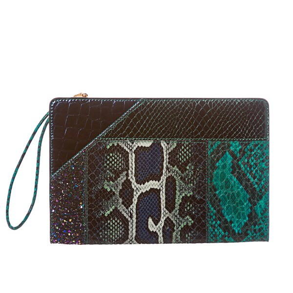 Stella McCartney Embossed Oversized Patchwork Clutch