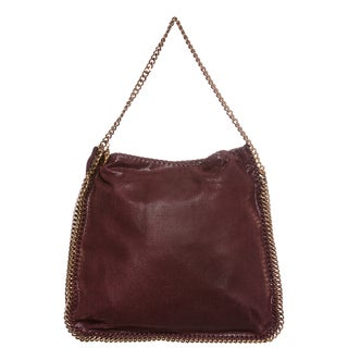 Stella McCartney 'Falabella' Plum Chain Whipstitched Hobo Bag