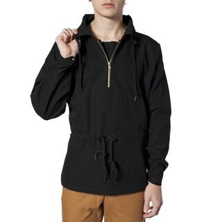 American Apparel Men's Black Pull-over Jacket