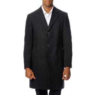 Nautica Men's 3-button Wool Blend Top Coat