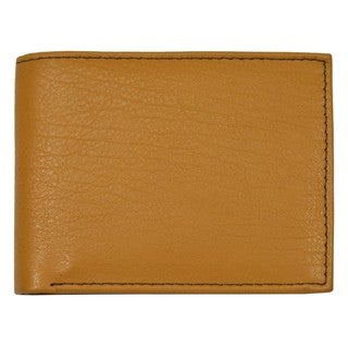 Men's Tan Leather Bi-fold Wallet