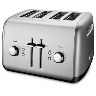 KitchenAid RKMT4115CU Contour Silver 4-slice Toaster (Refurbished)