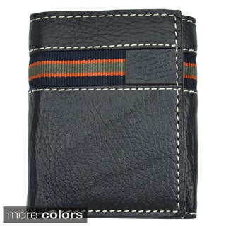 Men's Leather Tri-Fold Wallet - Black or Gray