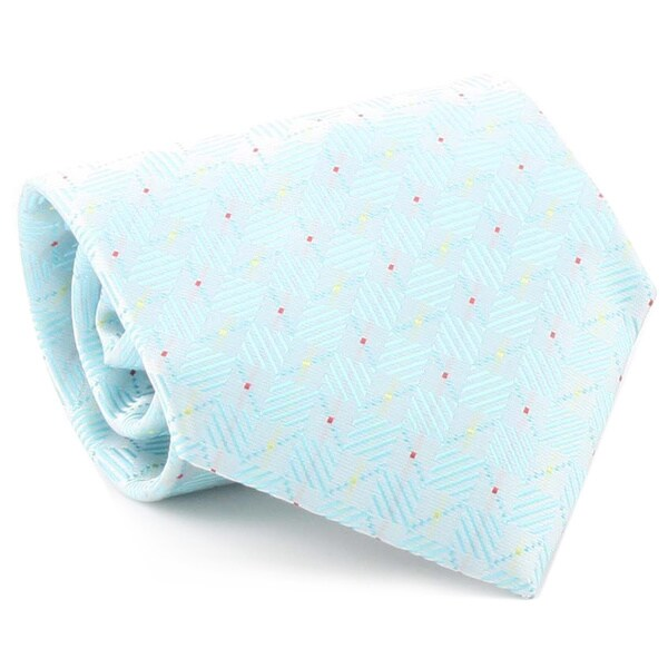 Ferrecci Men's Turquoise Neck Tie and Cufflinks Boxed Set
