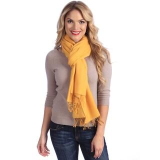 Women's Golden Rod Jacquard Cashmere and Silk Stole
