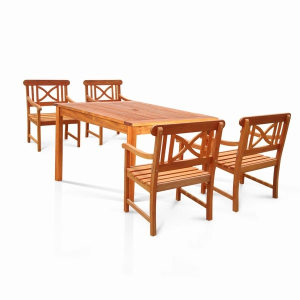 Benza Square Eucalyptus 5-piece Dining Set