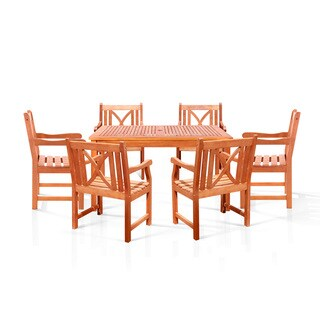 Bonsi Dining Set with Rectangulate Table and 6 Armchairs