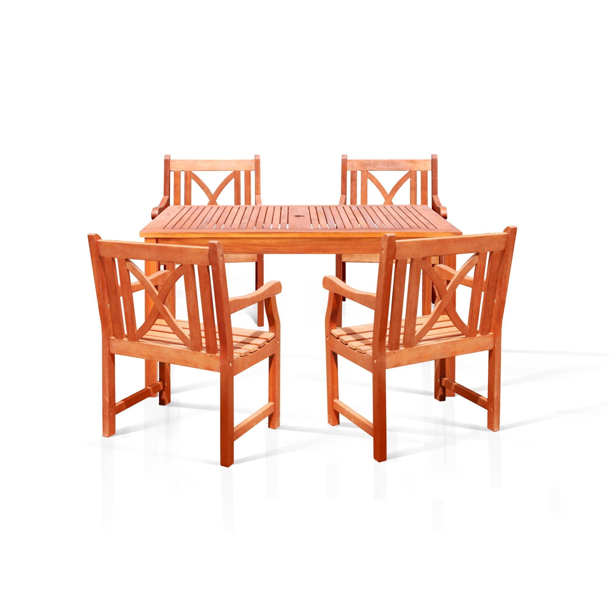 Vifah Bonsi Dining Set with Rectangulate Table and 4 Armchairs at Sears.com