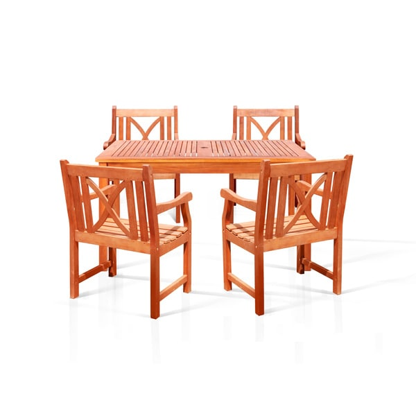 Bonsi Eco-friendly 5-piece Dining Set with Rectangulate Table and Arm Chairs