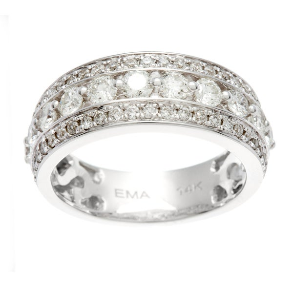 Sofia 14k White Gold Round-cut Diamond Anniversary Band (H-I, I1-I2)