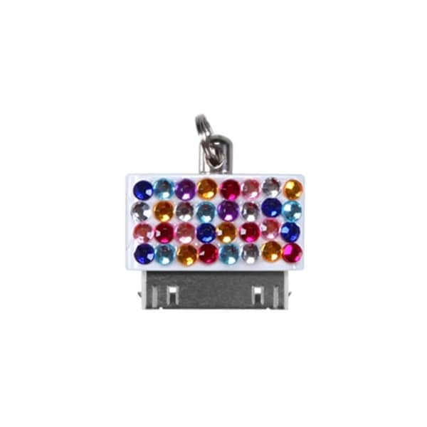 INSTEN Multi-color Diamante Dust Cap