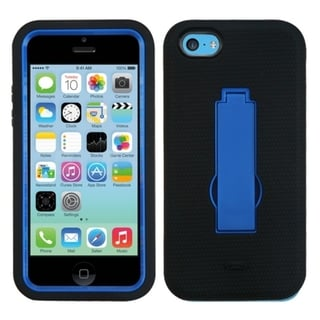 BasAcc Dark Blue/ Black Case with Stand for Apple iPhone 5C