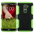 BasAcc Black/ Green Case with Stand for LG D801 Optimus G2/ D800 G2
