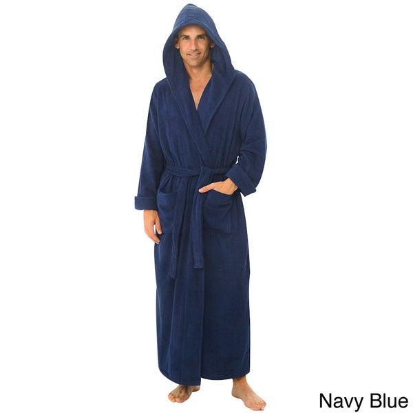 Before you put on your big and tall suit for a long day at the office, spend the morning getting ready in a comfortable men's big and tall robe. Big and tall pajamas include traditional matching plaid tops and bottoms, but men who prefer a pair of comfy fleece pants and a t-shirt have plenty of options, as well.