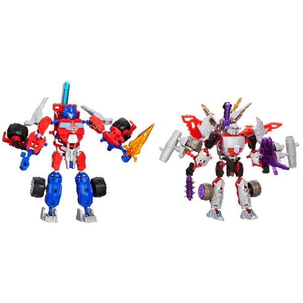 Transformers Construct-A-Bots Optimus Prime vs. Megatron Construction Toy