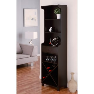 Furniture of America Alton Modern Cappuccino Multi-Storage Wine Bar