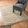 Plush Solid Abstract Shag Rug (3'9 x 5'6)