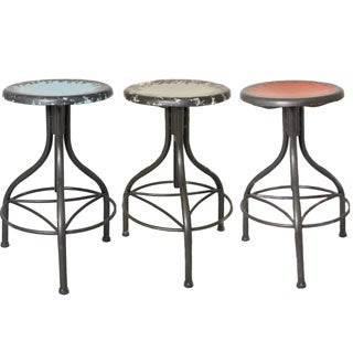 Casa Cortes Vintage Adjustable Metal Bar Stool