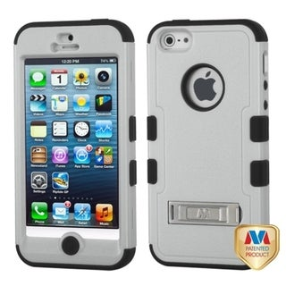 BasAcc Natural Grey/ Black TUFF Case for Apple iPhone 5/ 5S