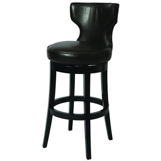 'Augusta' Brown Bonded Leather Swivel Bar Stool