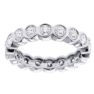 14k/ 18k Gold or Platinum 2ct TDW Round Diamond Eternity Band (F-G, SI1-SI2)
