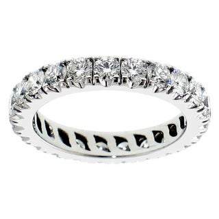 14k/ 18k Gold 2 - 2 1/3ct TDW Round Diamond Eternity Band (G-H, SI1-SI2)