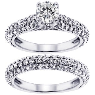 14k/ 18k Gold or Platinum 3 1/2ct TDW Diamond Bridal Ring Set (F-G, SI1-SI2)