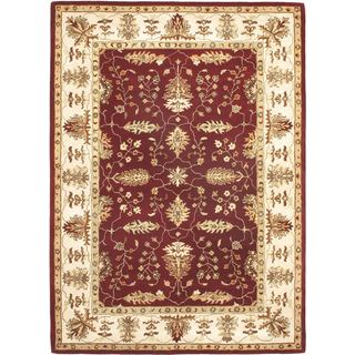 Hand-made Classic Enchantment Red Rug (7'10 x 10'10)