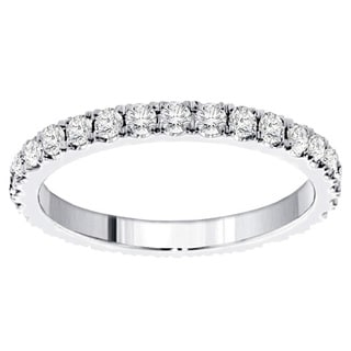 14k/ 18k Gold or Platinum 1 3/8ct TDW Diamond Eternity Band (F-G, SI1-SI2)