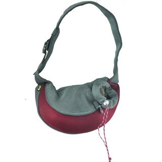 Wacky Paws Burgundy Pet Carrier Sling