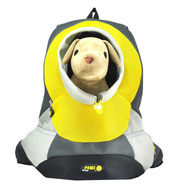 Wacky Paws Yellow Backpack Pet Carrier