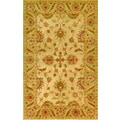 Golden Beige/ Light Green Wool Area Rug (5' x 8')