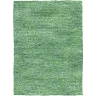 Anji Hand-loomed Anji/ Sea Mist Area Rug (5'3 x 7'6)