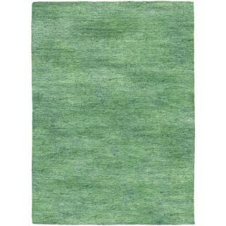 Anji Hand-loomed Anji/ Sea Mist Area Rug (7'10 x 10'10)